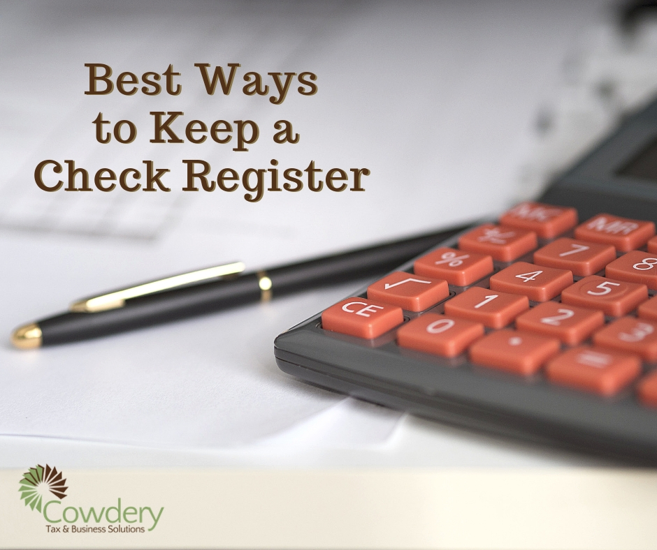 best ways to keep a check register cowdery tax