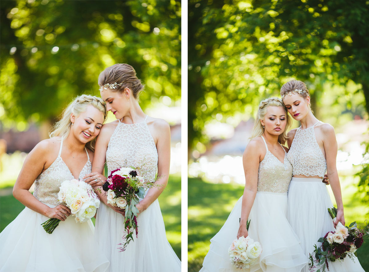 A Modern Lesbian Wedding Styled Shoot Colorado Weddings