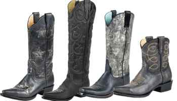 4 Pairs of Black Cowboy Boots from Stetson