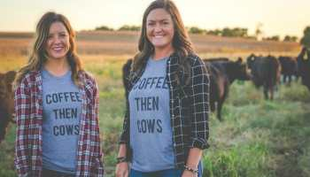 coffee cows rosebuds graphic tee cowgirl magazine