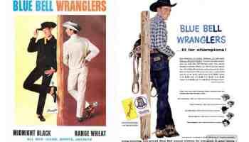 wrangler wranglers blue bell vintage western fashion 1980 1990 cowboy men man cowgirl magazine