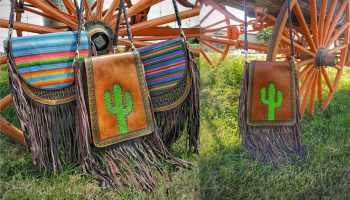 krazy girl crossbody cross body crossbodies purse purses crazy girl crazy girl tack krazy girl tack western fashion couture fringe cactus cacti serape cowgirl magazine