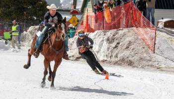 Cowgirl - Skijoring