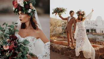 flower child bride flowers bridal bride cowgirl magazine