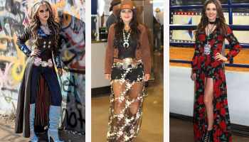 Fashion looks from the 2018 RFD-TV The American Rodeo Cowgirl Magazine