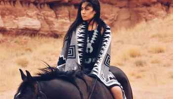 shondina lee she and turquoise horseback blanket squash blossom
