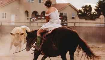 cutting up wedding day bride bridal cowgirl magazine