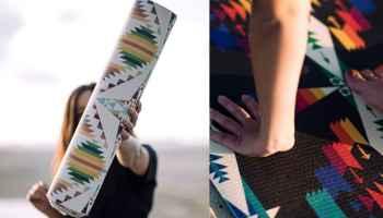 Pendleton woolen mills cowgirl magazine yoga mat