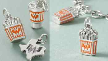 James Avery whataburger charm bracelet charms