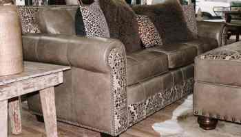 blue eyed buffalo custom couch. cowgirl magazine