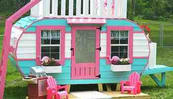 perfect playhouse happy camper Pauls playhouses paul's playhouses cowgirl magazine