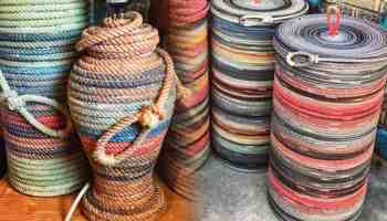 rope basket red roan rope baskets cowgirl magazine