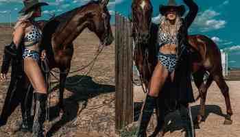 blaze internet swim suit bikini beaches and buckles cowgirl magazine