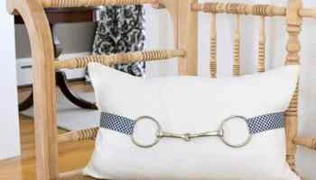 horse bit throw pillow cowgirl magazine