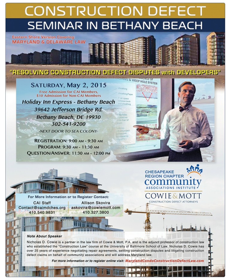 Construction Defect Law Seminar