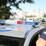 Niecodzienna policyjna eskorta po ulicach Krakowa