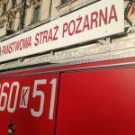 Pożar mieszkania na ul. Borkowskiej w Krakowie. Za pomocą drabiny ewakuowano dzieci z matką