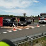 Śmiertelny wypadek na autostradzie A4. Samochód uderzył w inne pojazdy czekające na pobór opłat