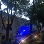 Pożar mieszkania w Krakowie na osiedlu Zielonym