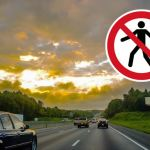 Kobieta szła autostradą w kierunku Krakowa. Gdy zobaczyła policję zaczęła uciekać