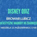 Question One zaprasza na quiz tematyczny z bajek Disney'a, jedyny taki quiz w Krakowie!