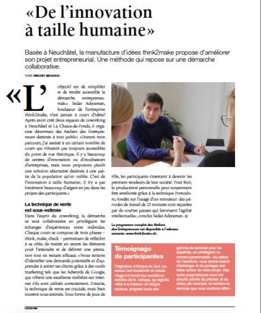 Article FocusPME-ateliers entrepreneurs