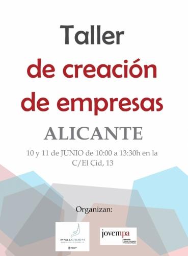 Taller Crea tu Empresa. Alicante | Coworking Benidorm | Oficinas ...