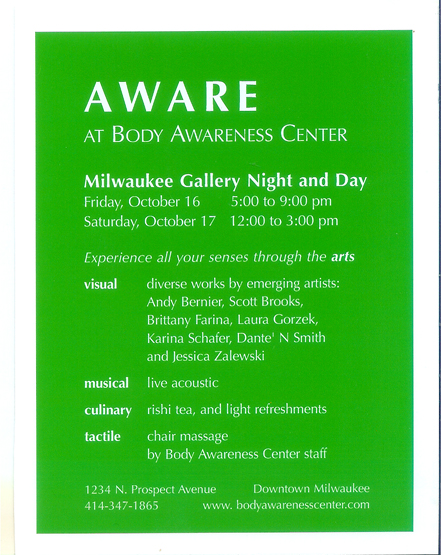 Aware Postcard Front - Opening October 16, 2009