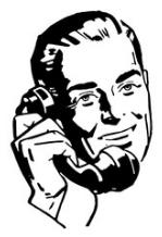 Man On Telephone (Cartoon)