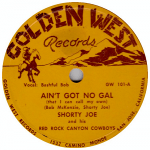 Shorty Joe - Ain't Got No Gal (Record label)