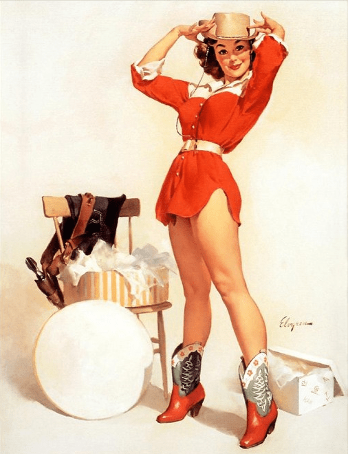 Something New - Gil Elvgren (Pinup)