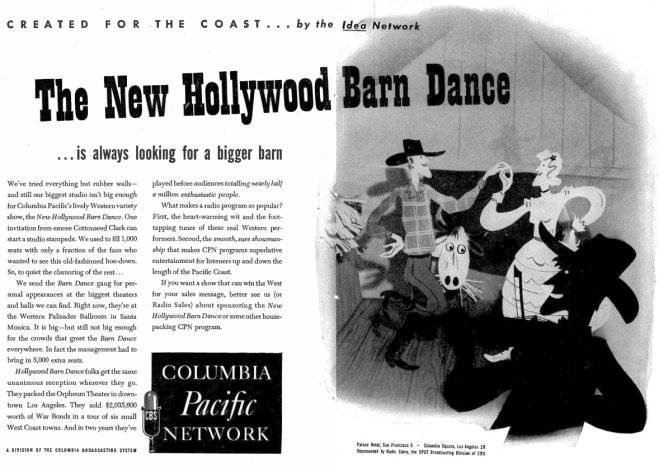 Hollywood Barn Dance (Print Ad)
