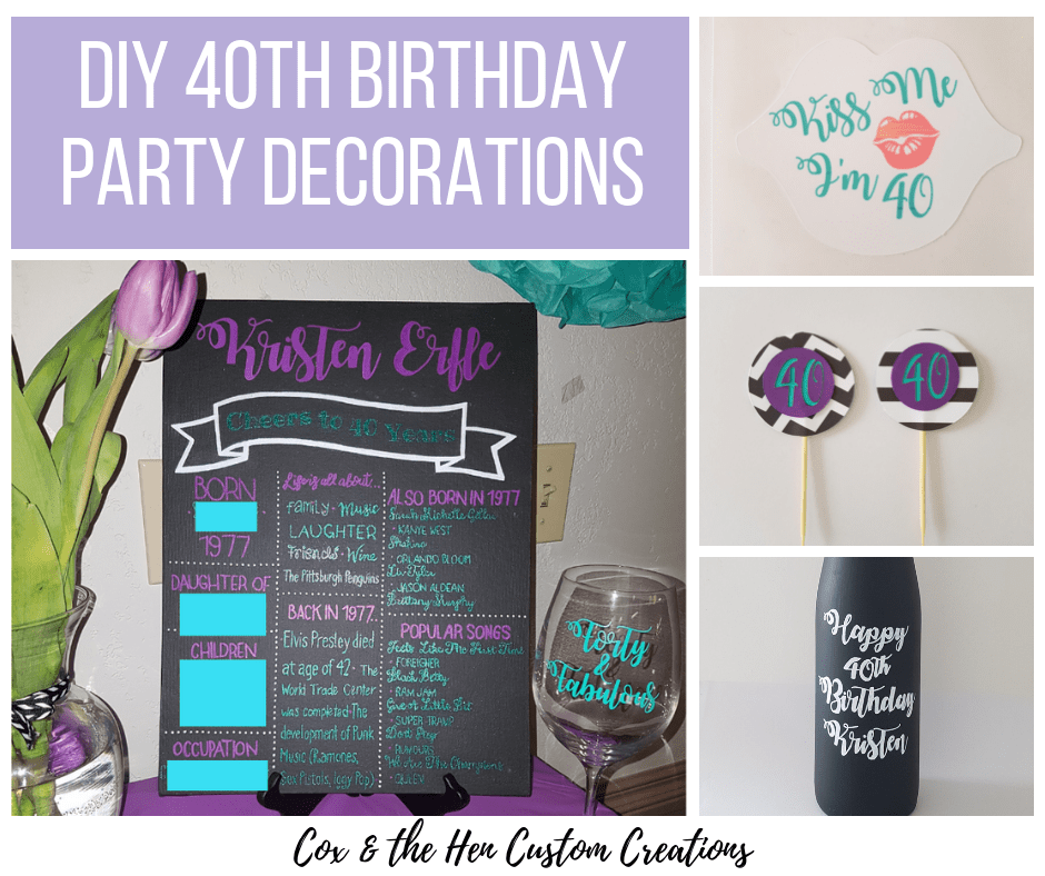 DIY 40th Birthday Party Decorations