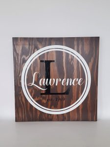 coxandthehen - family name wood sign