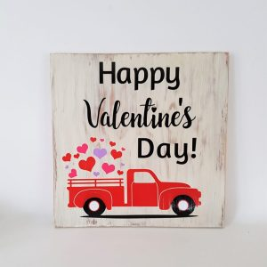 coxandthehen - happy valentines day wood sign
