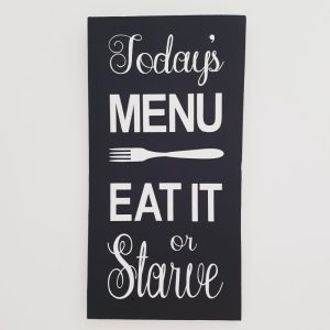 Todays Menu - Funny Kitchen Decor - Kitchen - DIY home decor - Diy sign - Wood Sign SVG - Wood Sign Stencil - DIY Sign - Wood Sign Cut File