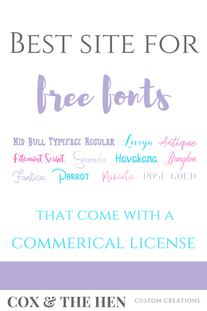 Best Site for Free Commercial Use Fonts