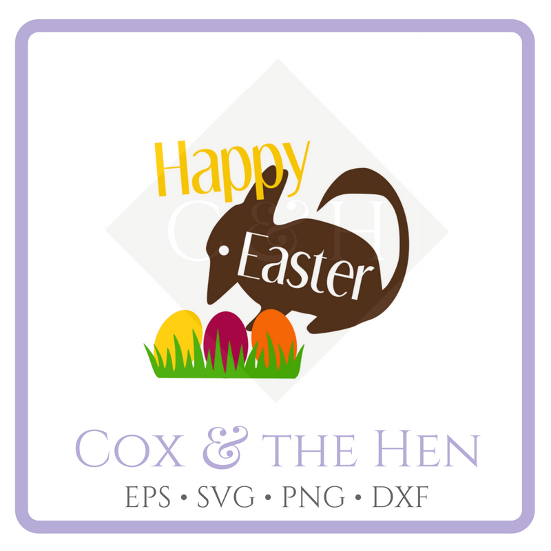 Happy Easter Svg - Easter Bilby Svg - Australian Easter Shirt - Bilby Svg - Cricut - Cameo - Cutting File - Png Svg Dxf Eps - Commercial - coxandthehen