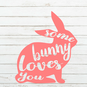 Some Bunny Loves You SVG - Bunny SVG - Kids Easter Shirt - Easter Svg - Cricut - Cameo - Cutting File - Png Svg Dxf Eps - Commercial use - coxandthehen