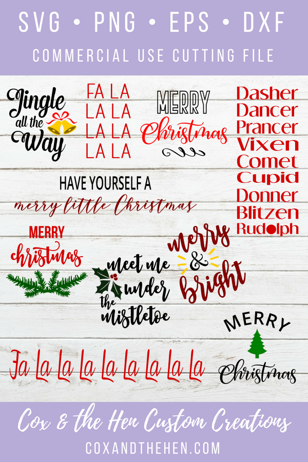 Christmas Stencils For Wood.Christmas Wood Sign Stencil Svg Bundle