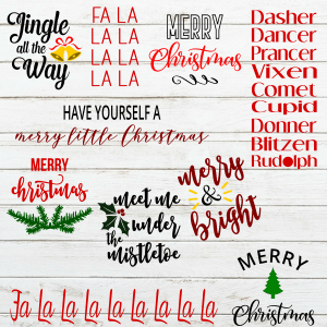 Christmas Wood Sign Stencil SVG Bundle - Christmas stencil for wood signs - christmas stencil for wood sign - christmas decoration - christmas svg - christmas wood sign stencil - christmas sign