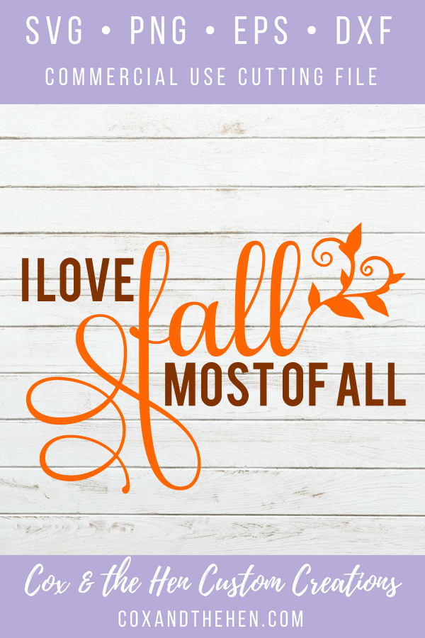 I love fall SVG - Leaf SVG - Fall svg - pumpkin spice cutting file - Maple Leaf SVG - happy fall - commercial use - fall cup - fall sign
