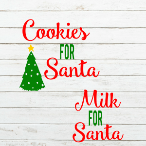 Santa Milk and Cookie for Santa SVG Set - christmas svg - santa plate - cookies for santa - milk and cookie set - santa bottle - cookie plate