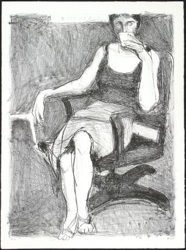 Richard Diebenkorn: Seated Woman Drinking From Cup