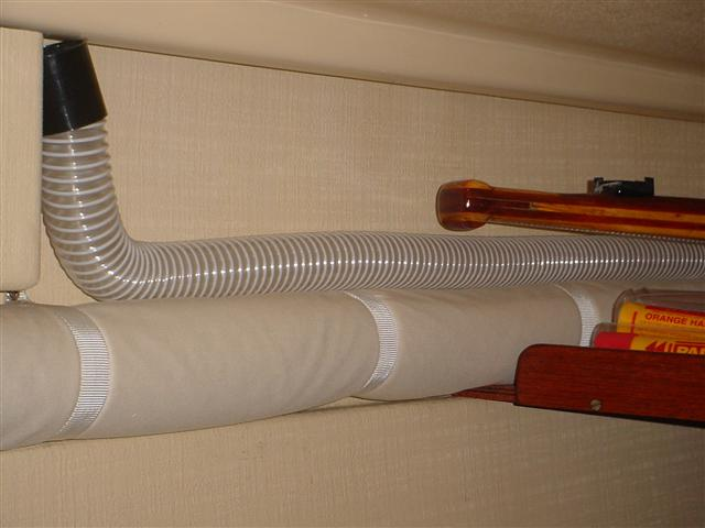 Aft cabin heating pipework