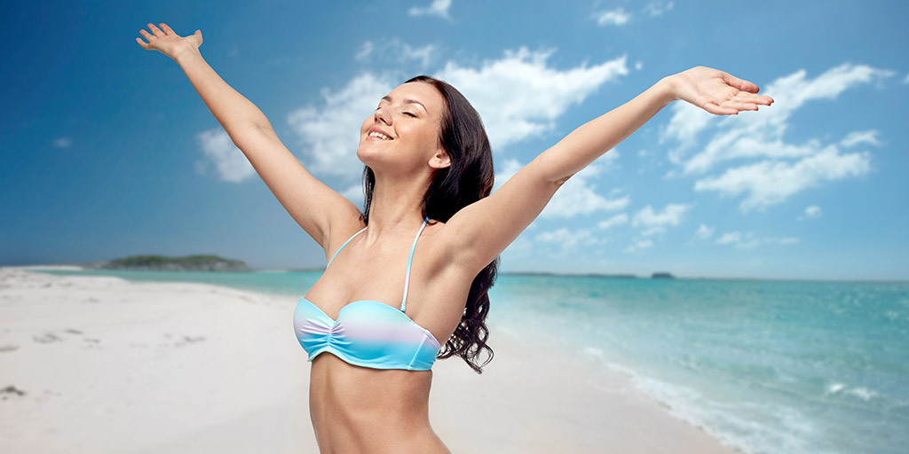 lady who has received hair removal laser treatment