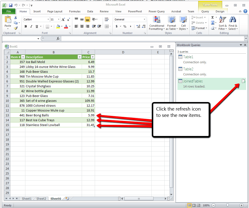 Join Two Excel Lists Using Powerquery