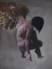 """""""Glimmer One"""" 48""""x36"""", Oil on Linen 2014"""