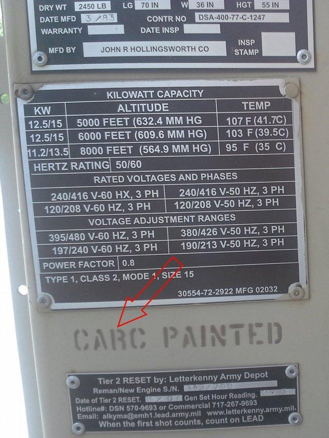 generator CARC painted!