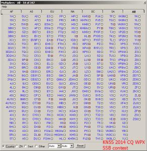 KN5S 2014 CQ WPX SSB DXCCs logged